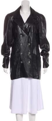 Chanel Paris-Londres Leather Coat