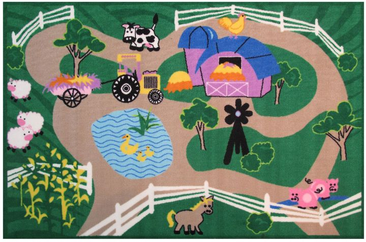 Fun RugsTM Fun Time Farms Road 4-Foot 10-Inch x 3-Foot 3-Inch Area Rug