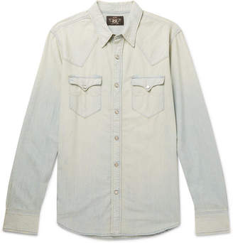 Buffalo David Bitton RRL Slim-Fit Washed-Denim Western Shirt