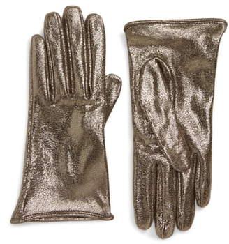 Brunello Cucinelli Metallic Leather Gloves