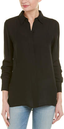 Vince Hidden Placket Silk Blouse