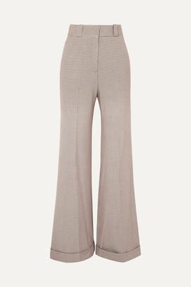 See by Chloe Checked Tweed Wide-leg Pants