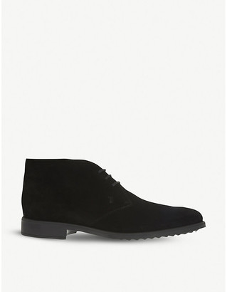 Tod's Tods Mens Black Chukka Boots