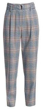 Akris Punto Fred Plaid High-Rise Stretch Wool Trousers