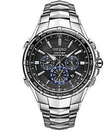 Seiko Men's Stainless Radio Sync Solar Chronograph Watch