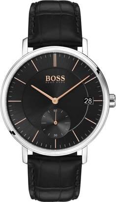 BOSS Leather Strap Watch, 40mm