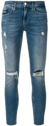 Calvin Klein Jeans cropped distressed jeans