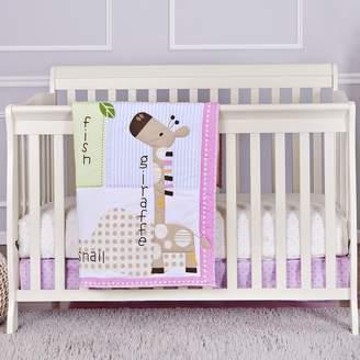 Dream On Me Jungle Friends 3Pc Reversible Full Size Crib Bedding Set