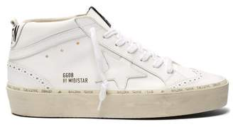 Golden Goose Hi Star High Top Leather Trainers - Womens - White