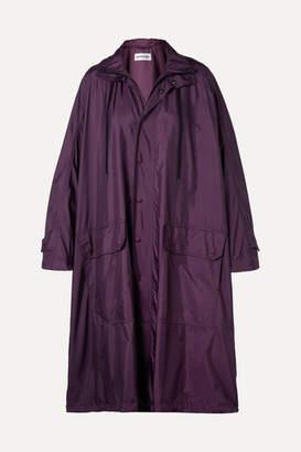 Balenciaga Opera Oversized Printed Shell Raincoat - Plum