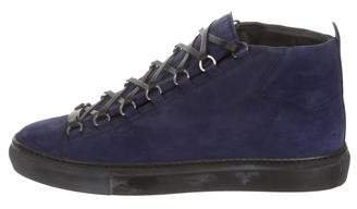 93f647fe3053 Balenciaga Arena Suede High-Top Sneakers