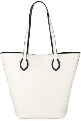 Neiman Marcus Alba Faux-Leather Snap Tote Bag