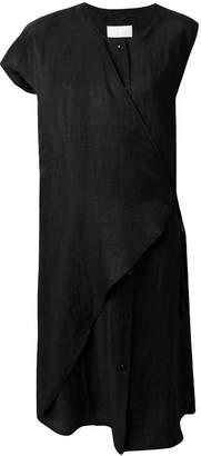 Reality Studio single sleeve wrap dress