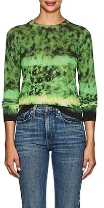Altuzarra Women's Tie-Dyed Silk-Cotton Sweater - Ceramic Green