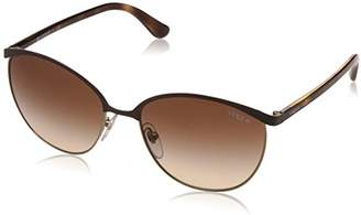 Vogue Women's Metal Woman Round Sunglasses