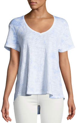 ATM Anthony Thomas Melillo Cotton Slub High-Low Boyfriend Tee