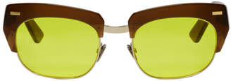 Acne Studios Brown and Gold Isabella Sunglasses