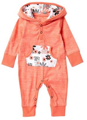 Baby Starters Love Flower Hooded Kangaroo Pocket Coverall (Baby Girls)