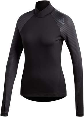 Next Womens adidas Black Alpha Skin Sport Long Sleeve Tee