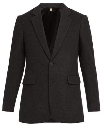 Burberry Single Breasted Cashmere Blazer - Mens - Grey