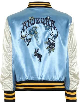Coach Arizona satin bomber jacket