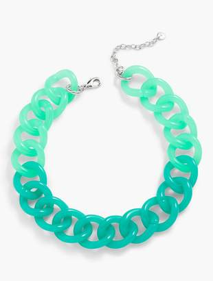 Talbots Colorblocked Link Necklace