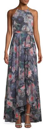 Badgley Mischka Women's Floral Print Maxi Dress