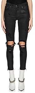 Amiri Women's Glitter Skinny Jeans - Black