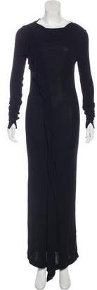 Jean Paul Gaultier Long Sleeve Evening Dress