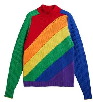 Burberry Rainbow Knit Wool & Cashmere Sweater