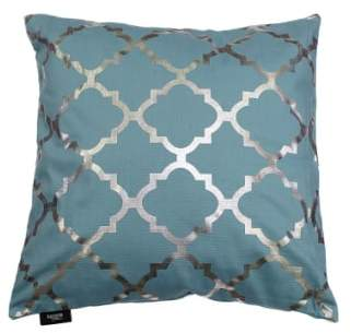 Kensie 'Holly' Metallic Lattice Print Pillow