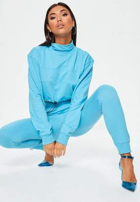 Missguided Blue Elastic Cuff Joggers