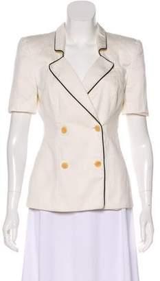 Giorgio Armani Structured Short Sleeve Blazer