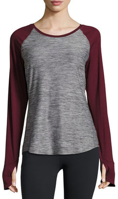 The North Face Motivation Long-Sleeve Training T-Shirt, TNF Medium Gray Heather $55 thestylecure.com
