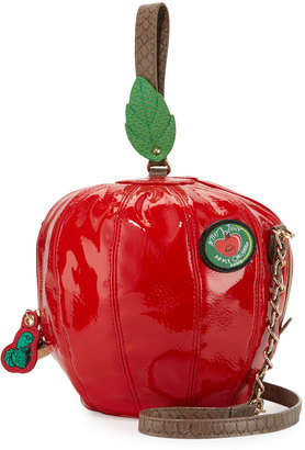 Betsey Johnson Apple-Shaped Crossbody Bag, Red $65 thestylecure.com