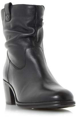 Roberto Vianni Black 'Politt' Ruched Detail Block Heel Ankle Boots