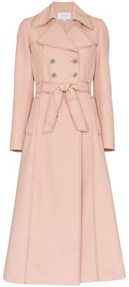 Giambattista Valli Belted Cotton-Blend Trench Coat