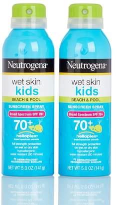 Johnson & Johnson Wet Skin Kids Beach & Pool SPF 70+ Sunscreen Spray - Set of 2