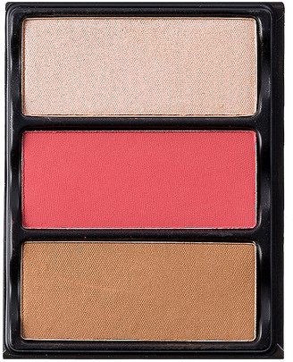 Theory Viseart II Blush, Bronzer & Highlighter Palette.