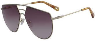 Chloé Ricky Triple Bridge Aviator Sunglasses