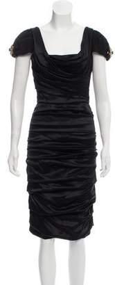 Dolce & Gabbana Draped Embellished Midi Dress w/ Tags