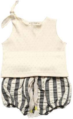 Message In The Bottle RIBBED COTTON TOP & STRIPED SHORTS