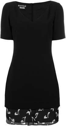 Moschino shirt lined fitted dress