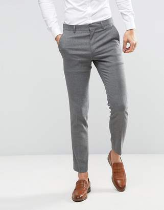 Asos DESIGN Wedding Skinny Suit PANTS In Gray Micro Texture