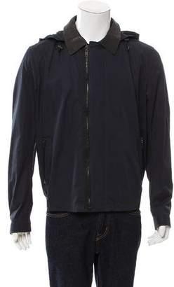 Lanvin Leather-Trimmed Hooded Jacket