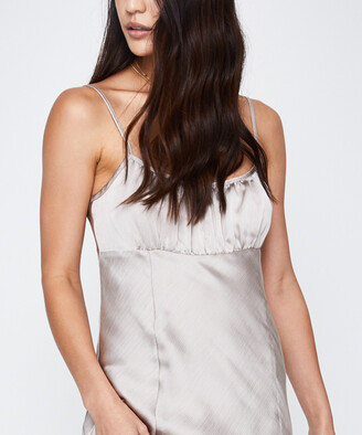 Alice In The Eve Bardot Ruched Slip Dress Oyster Grey