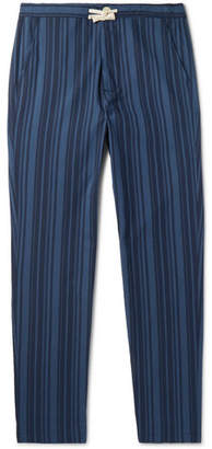 Oliver Spencer Loungewear Farrow Striped Organic Cotton Pyjama Trousers
