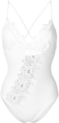 Ermanno Scervino floral embroidered swimsuit