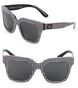 Dolce & Gabbana 51MM Houndstooth Square Sunglasses