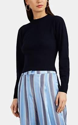 Barneys New York Women's Active Cashmere® Crewneck Crop Sweater - Navy
